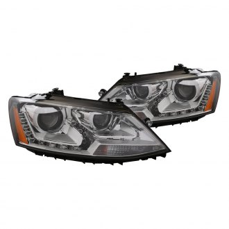 CG® - Chrome Projector LED Headlights with Amber Reflectors