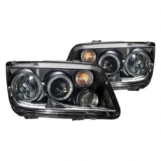 CG® - Black Halo Projector LED Headlights with Fog Lights