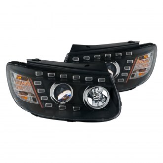 CG® - Black Projector Headlights with Amber Reflectors