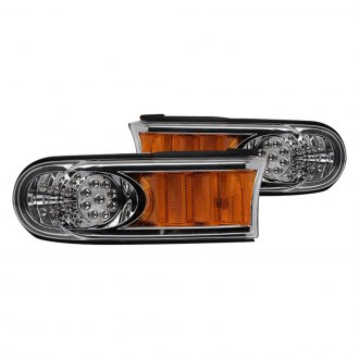 CG® - Chrome/Amber LED Parking Lights with Amber Reflectors