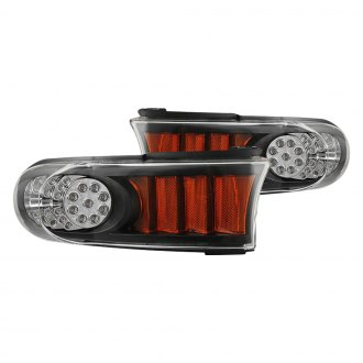 CG® - Black/Amber LED Parking Lights with Amber Reflectors