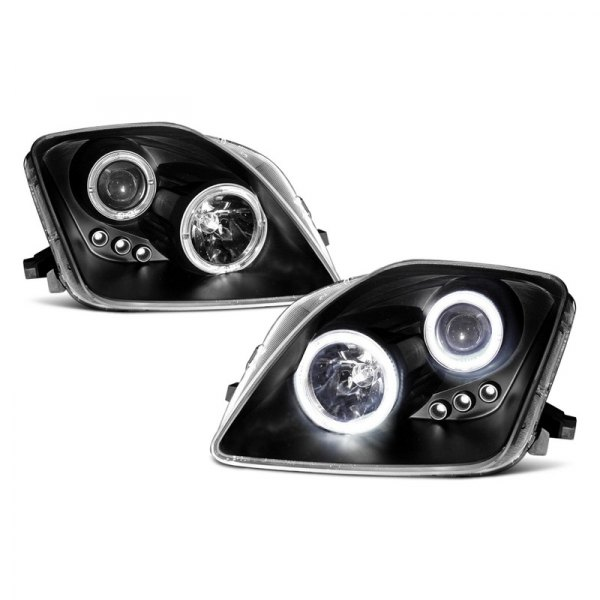 CG® - Chrome CCFL Halo Projector Headlights with Amber Reflectors