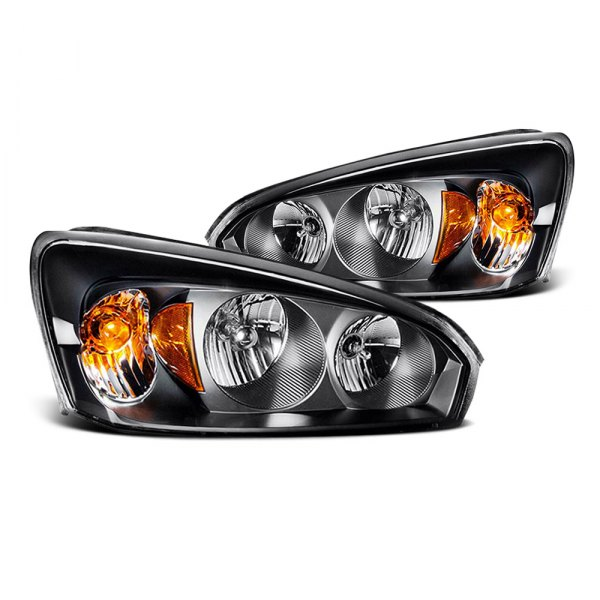 CG® - Black Crystal Headlights with Amber Reflectors