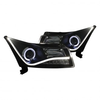 CG® - Black DRL Bar CCFL Halo Projector Headlights with LED Turn Signal