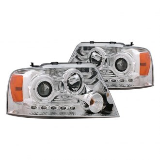 CG® - Chrome Dual Halo Projector Headlights with Parking LEDs