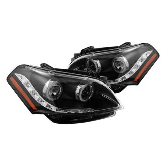CG® - Black CCFL Halo Projector Headlights with Parking LEDs