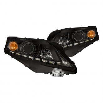 CG® - Black Projector Headlights with LED DRL