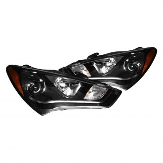 CG® - Black LED DRL Bar Projector Headlights