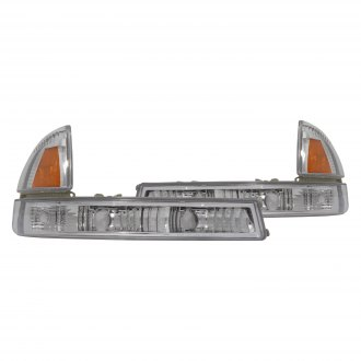 CG® - Chrome Amber/Clear Crystal Turn Signal/Parking Lights