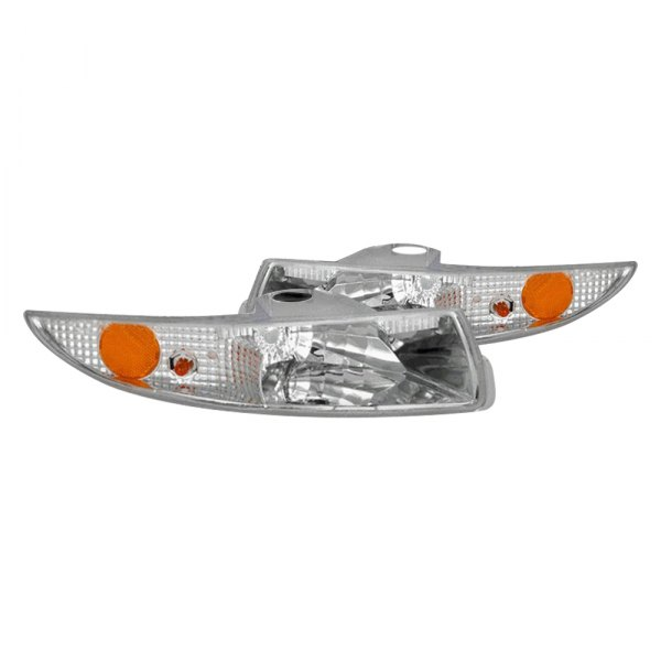 CG® - Chrome Euro Parking Light / Turn Signal / Side Marker Light with Amber Reflectors
