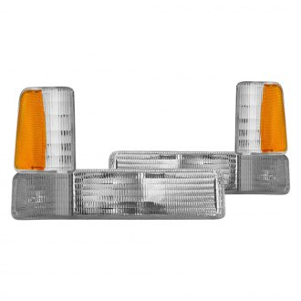 CG® - Chrome/Amber OEM Style Side Marker Lights with Amber Reflectors