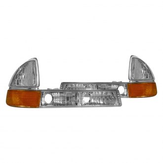 CG® - Chrome/Amber Euro Parking Lights with Amber Reflectors