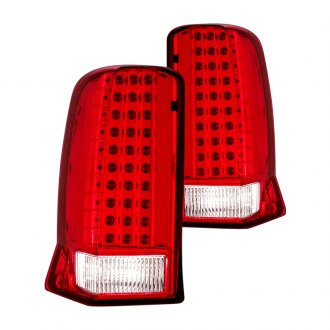 CG® - Chrome/Red LED Tail Lights without Cap