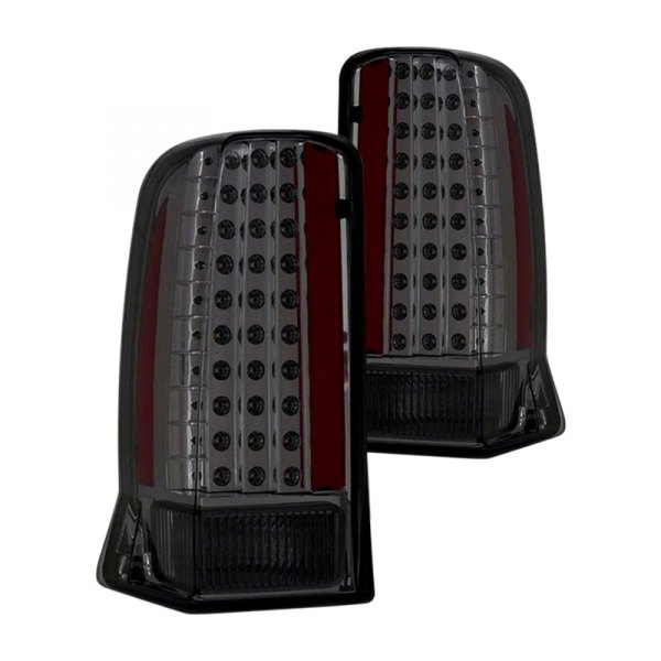 cg 03 ce02tledsm cadillac escalade 2003 2006 smoke led tail lights. Black Bedroom Furniture Sets. Home Design Ideas