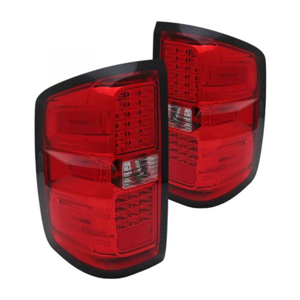 03 cl14tled chevy silverado 1500 2014 chrome red led tail lights. Black Bedroom Furniture Sets. Home Design Ideas