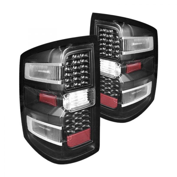 cg 03 cl14tledjm chevy silverado 1500 2014 black led tail lights. Black Bedroom Furniture Sets. Home Design Ideas