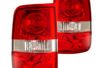 CG® - Red/Clear Euro Tail Lights LED Style