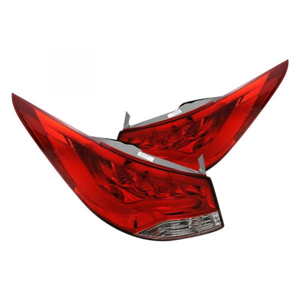 CG® - Chrome/Red Fiber Optic LED Tail Lights