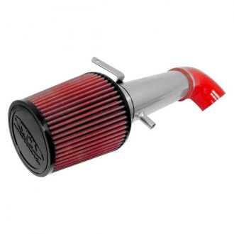 CGS® - Aluminum Polished Short Ram Air Intake System with Red Filter