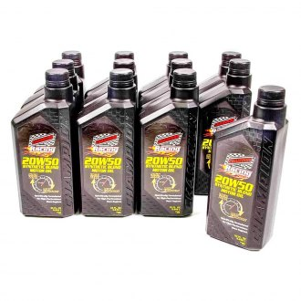 Champion Brands® - SAE 20W-50 Synthetic Blend Racing Motor Oil, 12x1 Quart