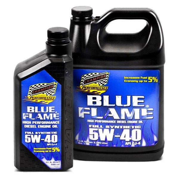 Champion brands blue flame synthetic diesel motor oil for Best diesel motor oil brand