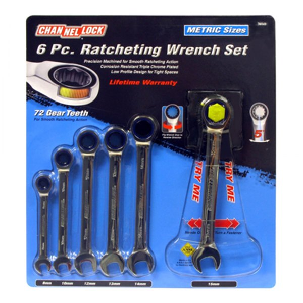 Channellock® 38049 - Metric Ratcheting Wrench