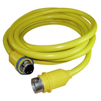 Charles® - 50' 50A 125V Yellow Cable Cord Set