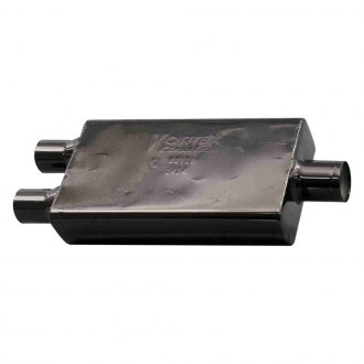 "Cherry Bomb® - Vortex Muffler (3"" Center Inlet / 2.5"" Dual Outlet Diameter, 22.5"" Length)"