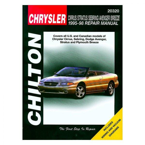 chilton 20320 chrysler cirrus stratus sebring avenger breeze rh carid com 1990 Dodge Avenger 1994 Dodge Avenger