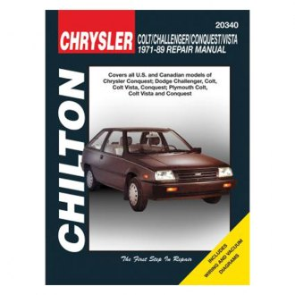 Chilton® - Chrysler Colt/Challenger/Conquest/Vista Repair Manual