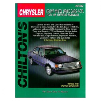 Chilton® - Chrysler Front Wheel Drive Cars with 4 Cylinder Engines Repair Manual