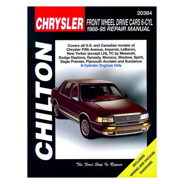 chilton 20384 chrysler front wheel drive cars with 6 cylinder rh carid com 1994 chrysler lebaron owners manual 1994 chrysler lebaron repair manual