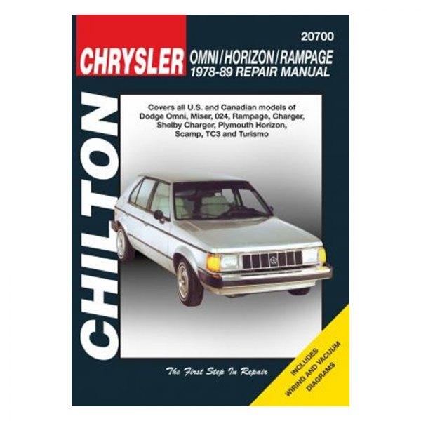 chilton 20700 chrysler omni horizon repair manual rh carid com Chrysler a Engine Chrysler Parts Diagram