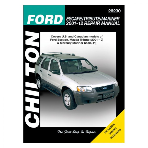 chilton 26230 ford escape tribute mariner repair manual rh carid com mazda tribute 2001 parts manual 2001 mazda tribute repair manual pdf