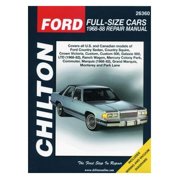 chilton 26360 ford full size cars repair manual rh carid com repair manual for case equipment repair manual for case ih cx100