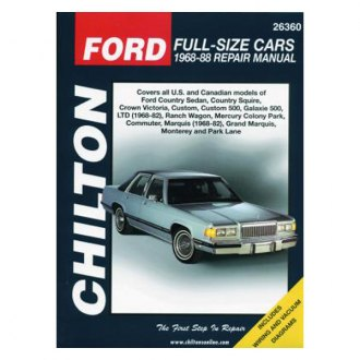 Chilton® - Ford Full-Size Cars Repair Manual