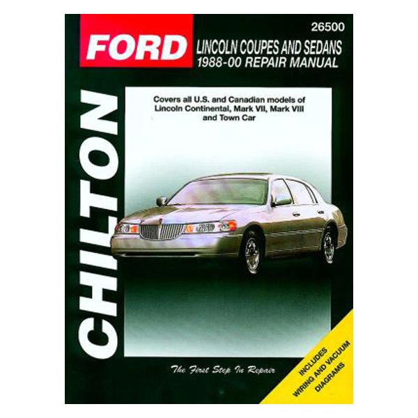 Chilton® - Ford Lincoln Coupes and Sedans Repair Manual