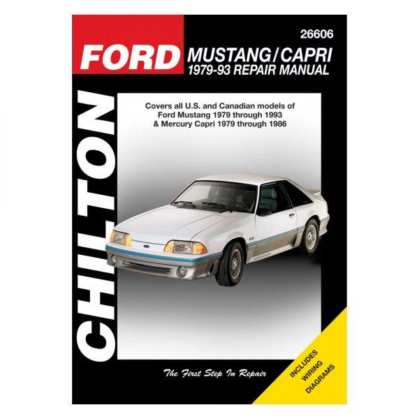chilton 26606 ford mustang capri repair manual rh carid com