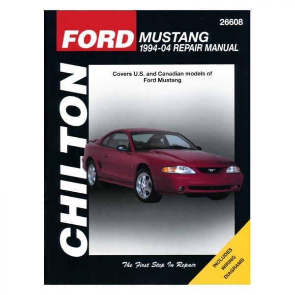 chilton 26608 ford mustang repair manual rh carid com 2004 Ford Mustang 1993 Ford Mustang