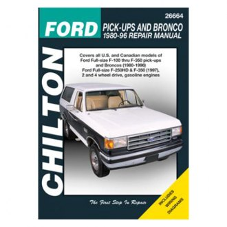 Chilton® - Ford Pick-Ups and Bronco Repair Manual