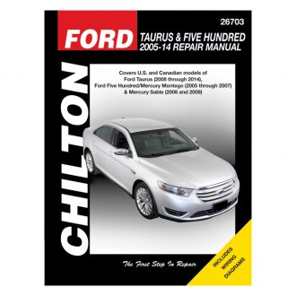 Chilton® - Ford Taurus and Five Hundred
