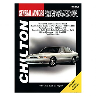 Chilton® - General Motors Buick/Oldsmobile/Pontiac Repair Manual