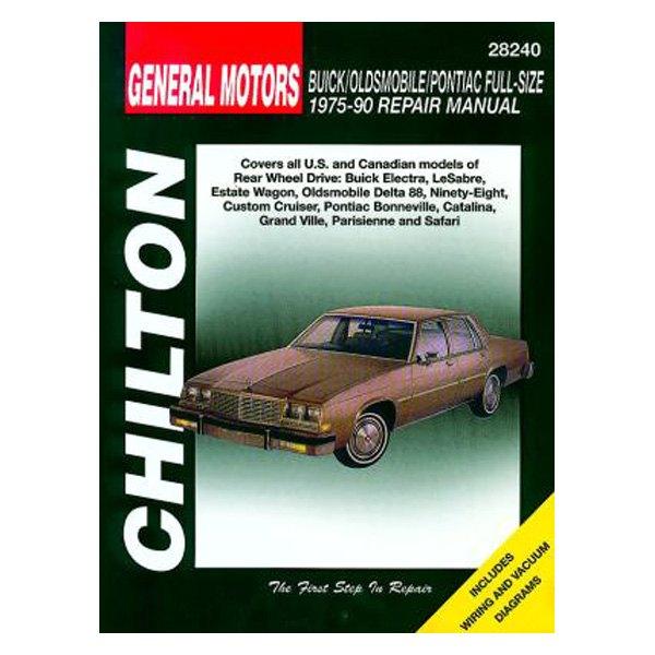 chilton 28240 general motors buick oldsmobile pontiac full size rh carid com 1990 buick lesabre repair manual 1991 Buick LeSabre