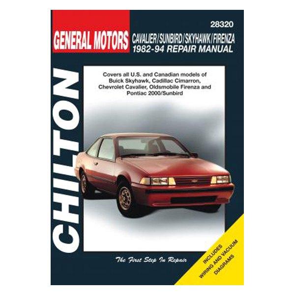 chilton 28320 general motors cavalier sunbird skyhawk firenza rh carid com 2003 Chevy Cavalier Owner's Manual 1994 chevrolet cavalier repair manual