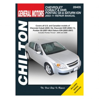 Chilton® - General Motors Cobalt/G5 Repair Manual