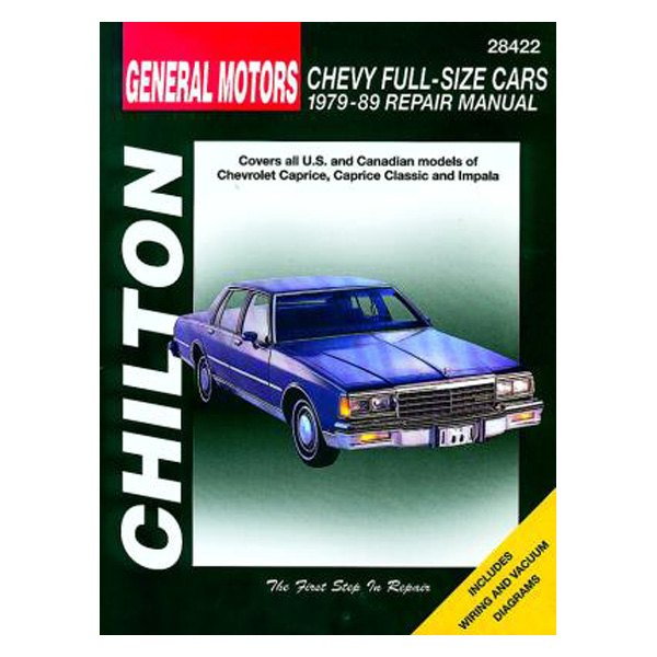 chilton 28422 general motors chevy full size cars repair manual rh carid com Caprice Classic 1984 On 20 S 1984 Chevy Caprice Belts