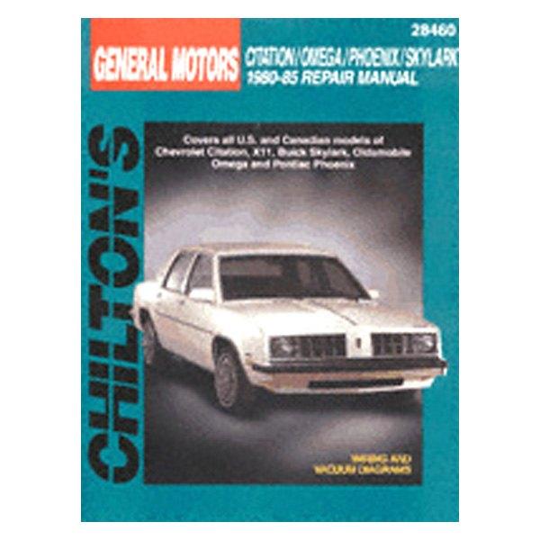 chiltons auto repair manual 1980