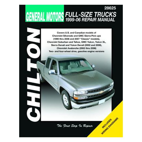 chilton 28625 general motors full size trucks repair manual rh carid com Repair Manuals Yale Forklift 12H802 Manual