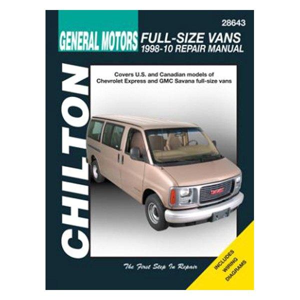 chilton 28643 general motors full size vans repair manual rh carid com Chevy 4x4 Repair Manual Diesel Chilton Repair Manual PDF