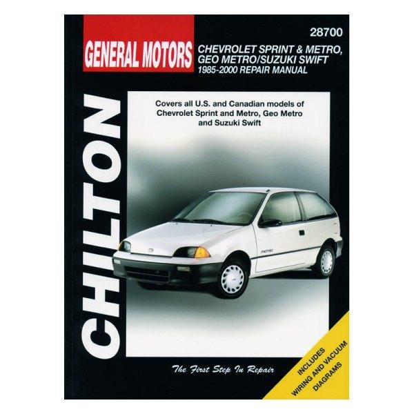 chilton 28700 general motors sprint metro geo metro suzuki swift rh carid com 1996 geo metro owners manual 1999 Chevy Metro Manual